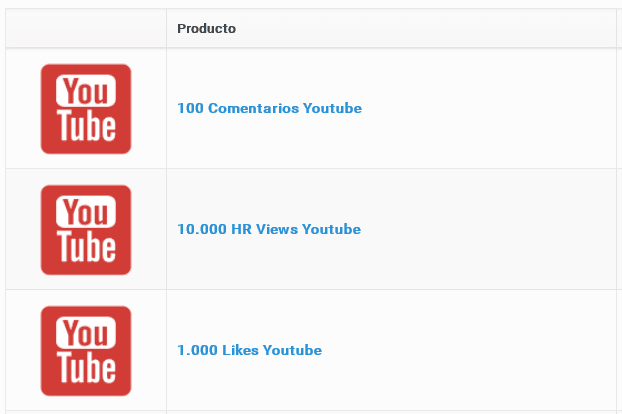 Comprar pack youtube