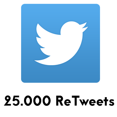 comprar 25000 retweets twitter